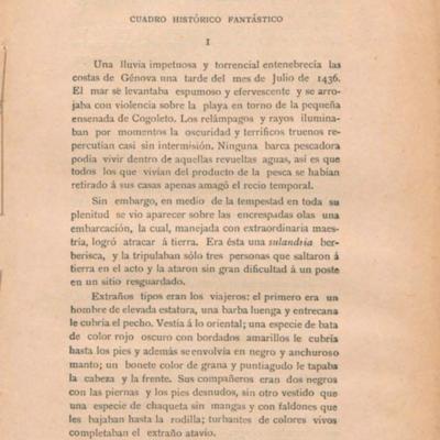 I El nacimiento de Cristóbal Colón. Cuadro histórico fantástico