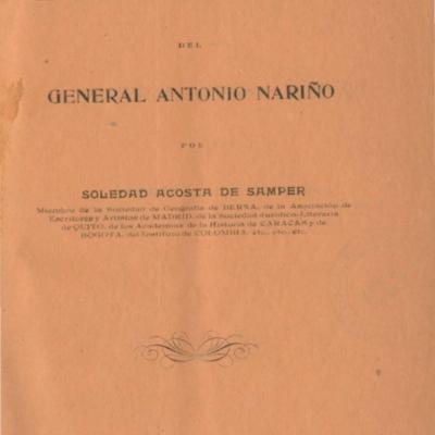 Biografía del general Antonio Nariño