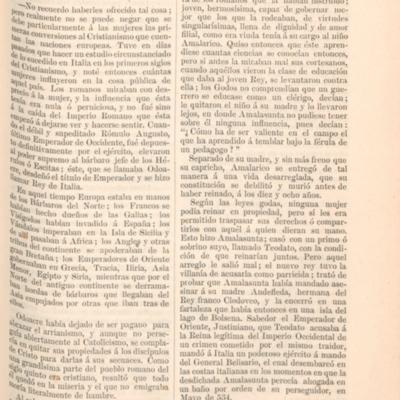 Amalasunta. Influencia de la mujer cristiana en Italia
